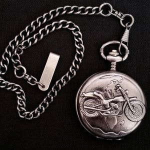 New Metal Motorcycle Pocket Stopwatch